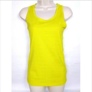 Reebok Women's Play Dry Tank Top Small Yellow
